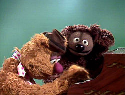 Rowlf the Dog and Fozzy Bear on piano