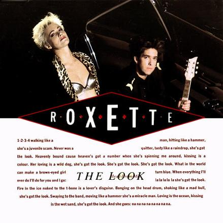 Roxette - The Look (CD single sleeve)