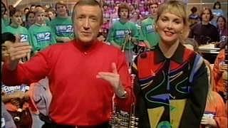 Roy Castle and Cheryl Baker presenting Record Breakers in 1992