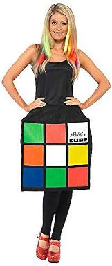 Rubik's Cube 3D Dress Costume for Women