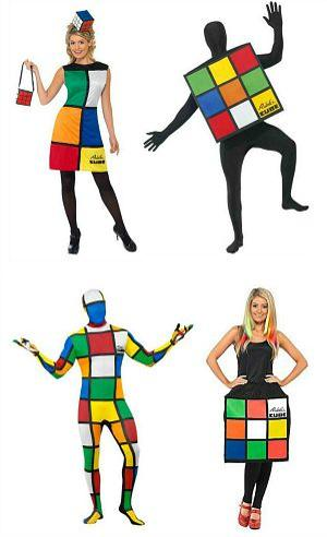 Rubik's Cube Fancy Dress Costumes for Adults