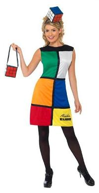 Rubik's Cube Dress Costume with handbag and headpiece