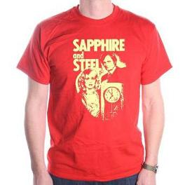 Sapphire and Steel T-shirt - red for men