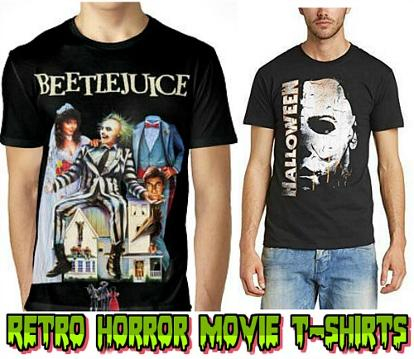 70s and 80s Horror Halloween T-shirts