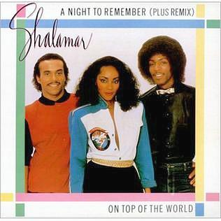 Shalamar - A nIght To Remember (1982) vinyl single