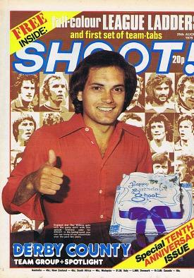Ray Wilkins on the cover of Shoot! Magazine - 25th August 1979
