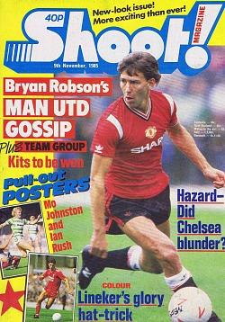Shoot! magazine 9th Nov 1985 ft. Bryan Robson - Man United