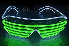 Neon 80s LED light-up Shutter Shades