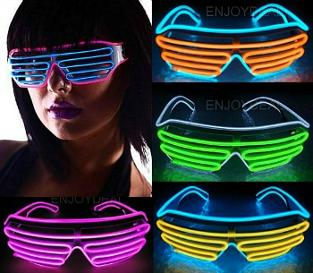 Neon 80s LED Shutter Shades