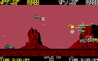 Silkworm game screenshot Amiga