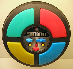 Simon memory game from the 80s