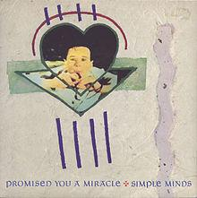 Promised You A Miracle - vinyl 45rpm single sleeve (1982) - Simple Minds
