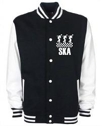 Ska Dancers Black and White Varsity Jacket