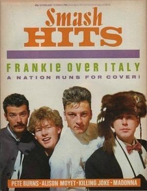 FRankie Goes To Hollywood on the cover of Smash Hits in 1985