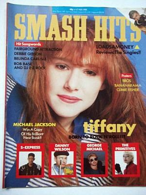 Tiffany on the cover of Smash Hits in May 1988