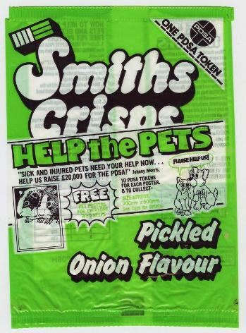 Smiths Crisps Pickled Onion Flavour 1980s
