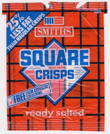 1980s Smiths Square Crisps ready salted