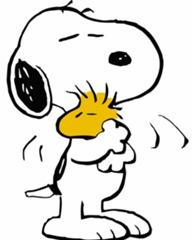 Snoopy and Woodstock in the Peanuts comic strip