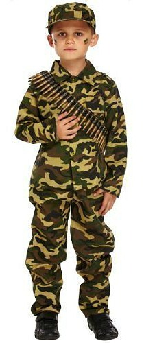 Army Camouflage Soldier Costume for Boys