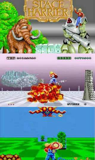 Space Harrier screenshots collage