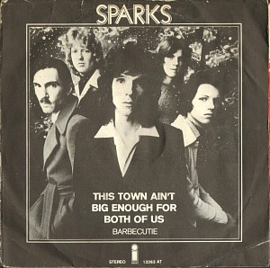 Sparks - This Town Ain't Big Enough For The Both Of Us - vinyl sleeve