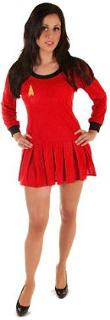 Women's Red Star Trek Costume