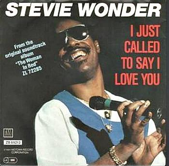 Stevie Wonder - I Just Called To Say I Love You (single sleeve)