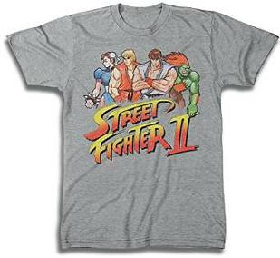 Street Fighter II characters gaming T-shirt