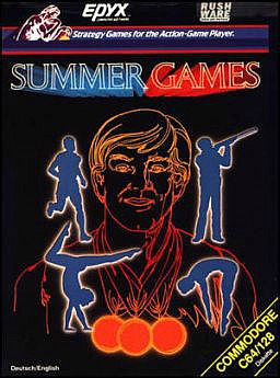 Summer Games by Epyx for C64/128 - cassette cover art