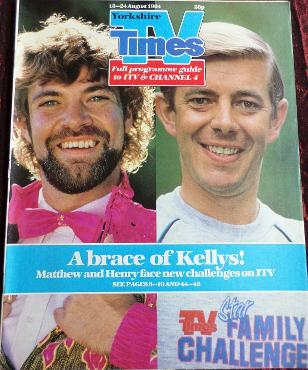 TV Times Aug 1984 ft. Matthew Kelly and Henry Kellt