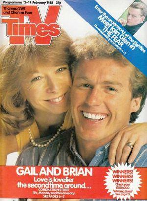 TV Times Feb 1988 ft. Gail and Brian Tilsley from Coronation Street