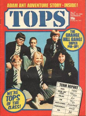 TV Tops magazine April 1982 ft. Grange Hill