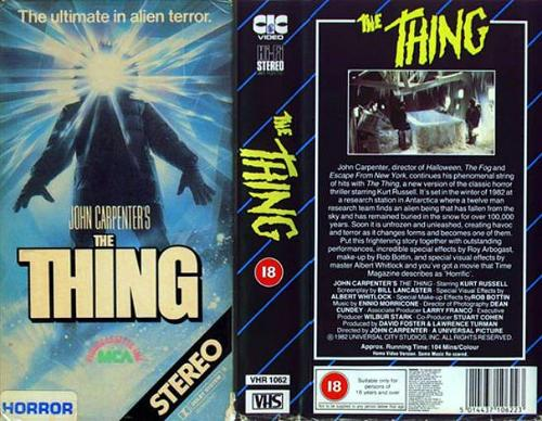 John Carpenter's The Thing (1982) VHS tape