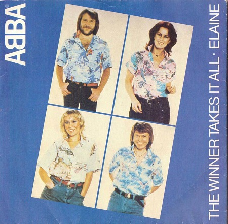 The Winner Takes It All by ABBA vinyl single sleeve (1980)