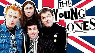 The Young Ones - Ade Edmondson (Vyvyan Basterd), Nigel Planer (Neil), Rik Mayall (Rick) and Christopher Ryan (Mike,