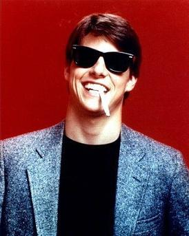 Tom Cruise wearing Ray-Ban Wayfarers