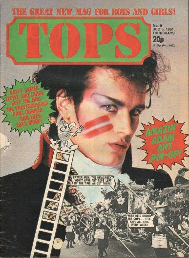 TOPS Magazine Dec 5th 1981 ft. Adam Ant