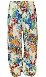 Tropical Floral Palazzo Pants for Laides