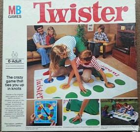 Vintage 1970s Twister Game by MB Games