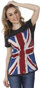 Ladies Union Jack T-Shirt