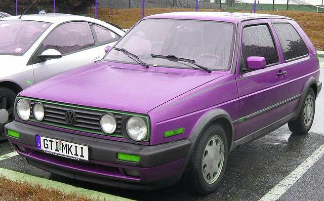 Very cool purple VW Golf GTi MkII