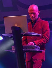 Vince Clarke playing synths in 2011