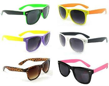 Multi-coloured Wayfarer Sunglasses Collage