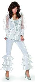 White ABBA Fancy Dress Costume for Ladies