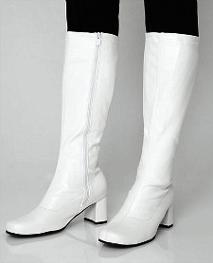 White GoGo Disco Boots for Women