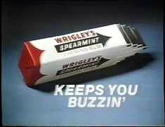 Wrigley's Spearmint Chewing Gum 1982 advert