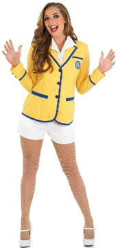 Women's Yellow Coat and Shorts Holiday Rep Costume