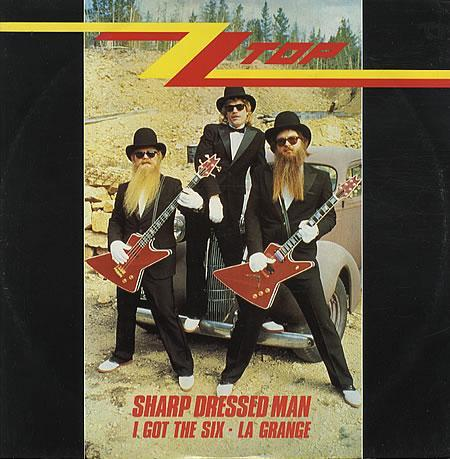 ZZ Top - Sharp Dressed Man single sleeve front