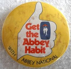 Get the Abbey Habit Abbey National button badge