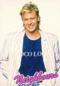 Jason Donovan Neighbours Poster with 80s Mullet Hair